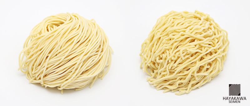 ストレート麺とちぢれ麺の違い
